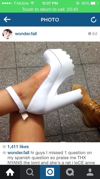 shoes tumblr outfit high heels white high heels clothes cute high heels