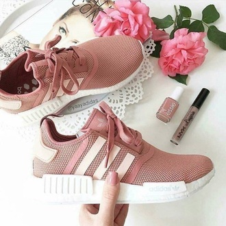 shoes adidas adidas shoes pink rose tumblr twitter rose gold addidas lace shoes pinkish nude cool fashion sneakers i need this help love