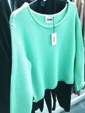 sweater,aqua,acne studios,knit,майка,pink acne sweater,pink,jumper,mint,nice,bright,vibrant,sweater weather,girly