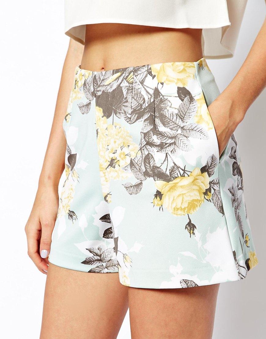 ASOS Suit In Floral Scuba at asos.com