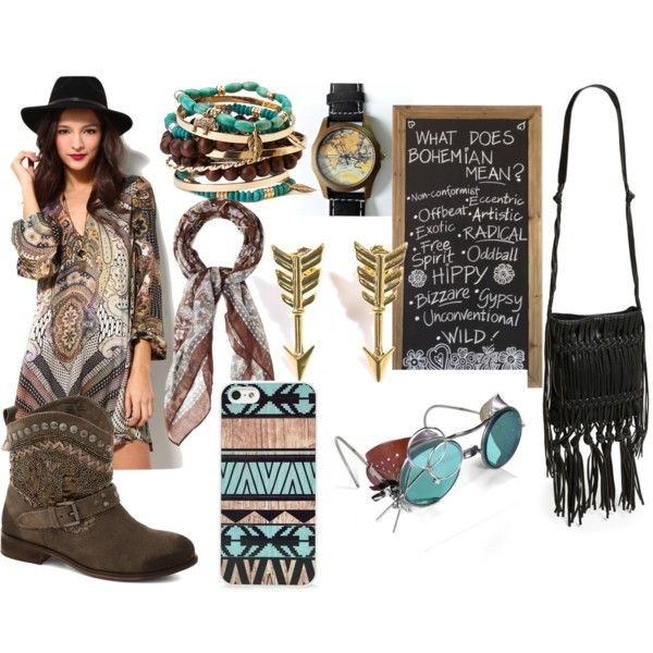 jewels boho chic map watch aztec hippie scarf fringed bag sunglasses
