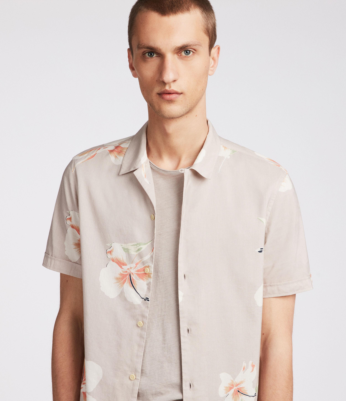 ALLSAINTS UK: Mens Rosarito Hawaiian Shirt (light_grey)