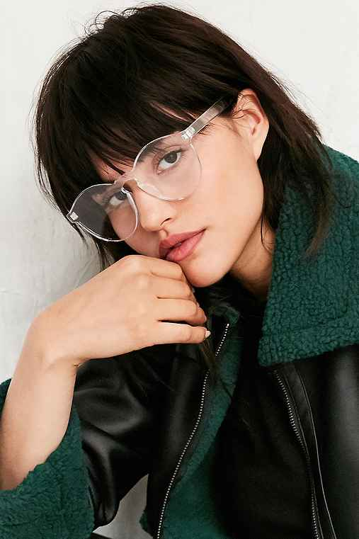 Futuristic Monocut Round Readers - Urban Outfitters