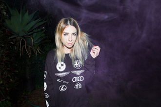 shirt cars logo shirt long sleeves sweater black sweater celebrity sweater alison wonderland celebrity