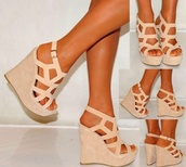 shoes,high heels,bag,wedges,heels,nude,nude wedges,Strapy wedges,shoes black grunge flat,skin tone,cream,straps,suade