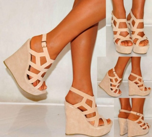 shoes high heels bag wedges heels nude nude wedges Strapy wedges shoes black grunge flat skin tone cream straps suade