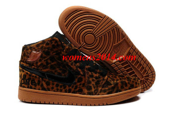 fur winter shoes nike air jordan 1 men brown air jordan i leopard