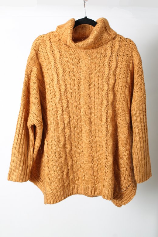 Chunky Knit Oversized Camel Jumper - from The Fashion Bible UK