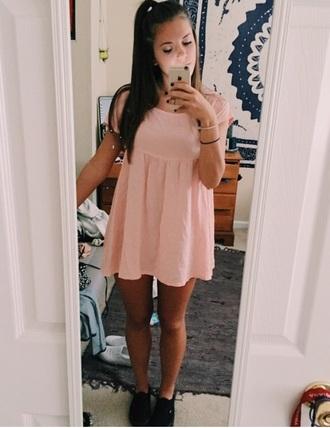 dress pink light pink dress light pink pink dress skater dress babydoll dress