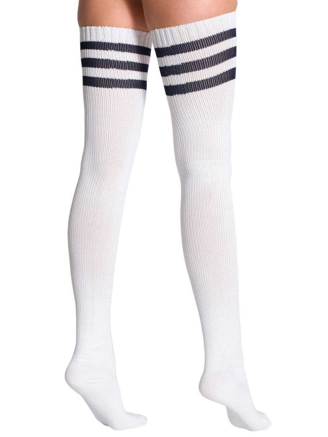 6ec0337100f American Apparel Stripe Thigh-High Sock One Size
