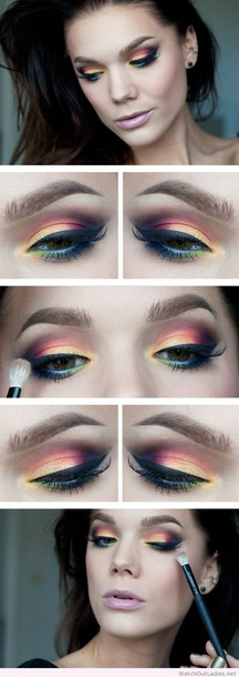 make-up linda hallberg colorful eye makeup idea makeup ideas