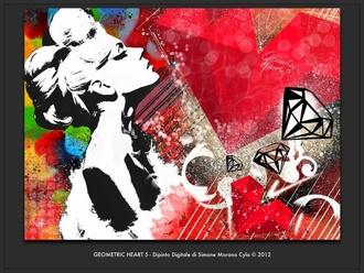 jewels art design paintings paint love heart fashion