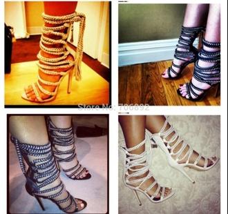rope heels nude high heels