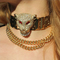 2013 fashion statement necklace vintage  crystal leopard head metal chain choker necklace statement jewelry