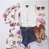 tank top,sunglasses,shorts,shoes,romper