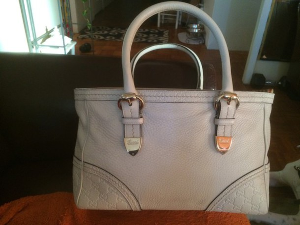 bag gucci tan leather handbag