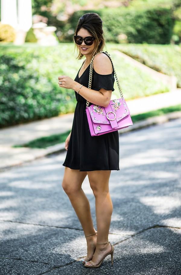 life & messy hair blogger dress shoes jewels bag sunglasses sandals high heel sandals mini dress summer dress