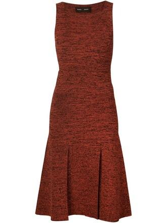dress sweater dress red