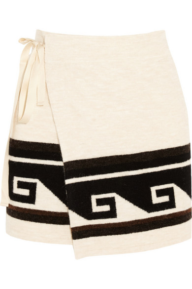 Sienna knitted wrap mini skirt