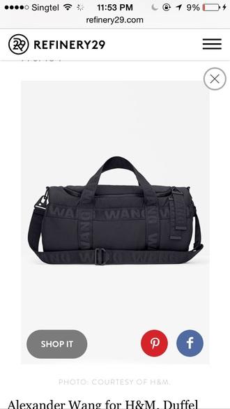bag black alexander wang duffel bag