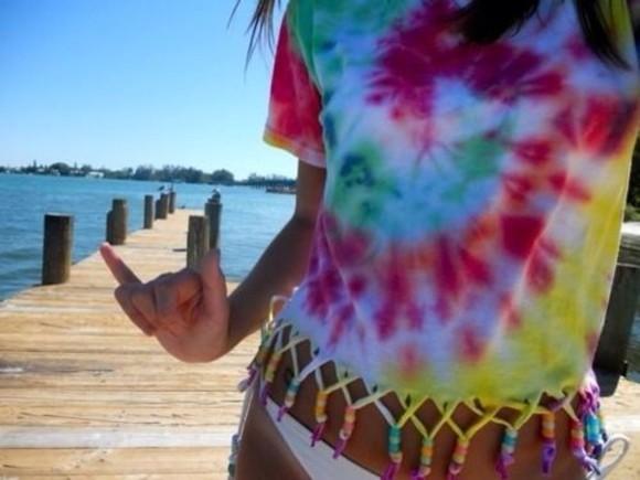 tie dye top shirt