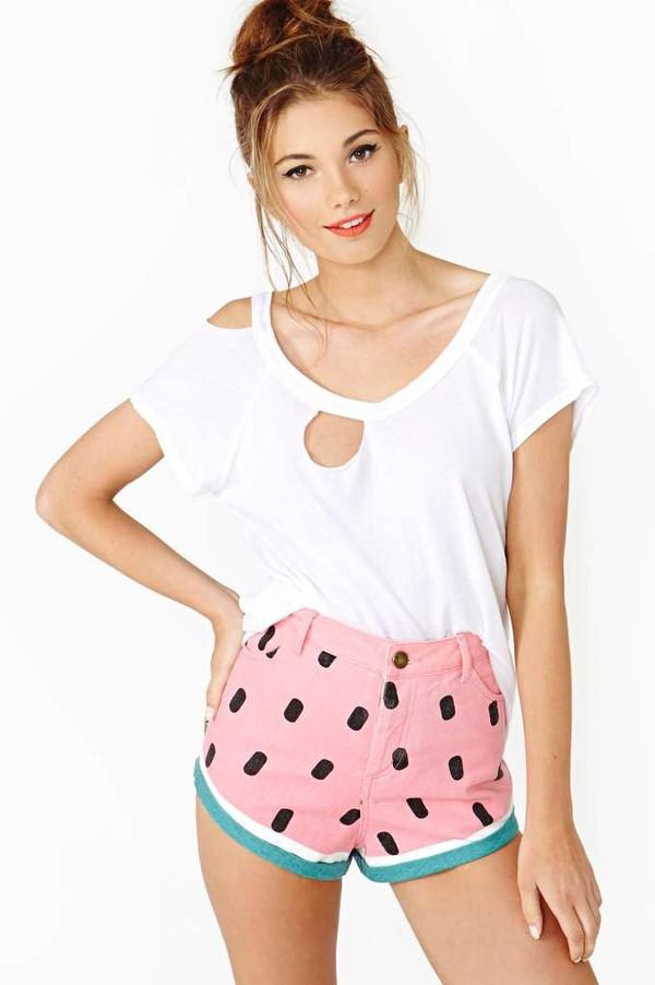 watermelon shorts shorts