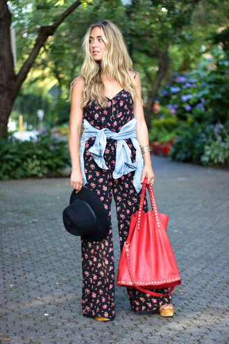 a fashion love affair jumpsuit jewels jacket shoes bag