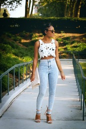 the daileigh,top,jeans,shoes,bag,sunglasses