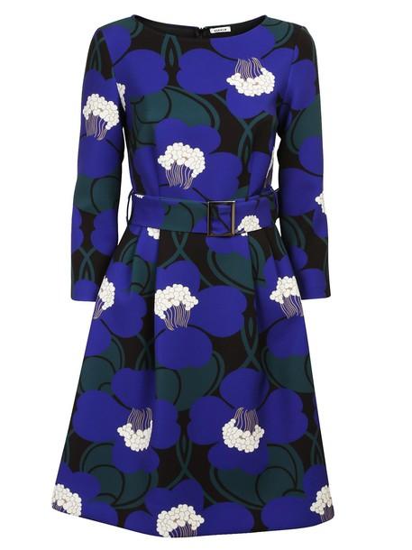 Parosh dress belted dress floral