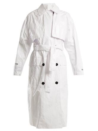 coat trench coat white