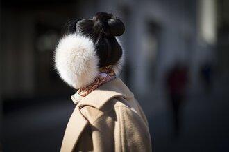 hair accessory earmuffs fur hairstyles coat camel coat camel