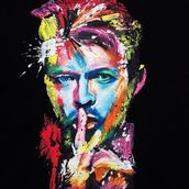 t-shirt,wearable art,art to wear,unique painted t-shirts,painting t-shirts,quortshirts,David Bowie,david bowie t-shirts,the thin white duke