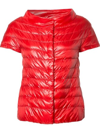jacket women quilted red