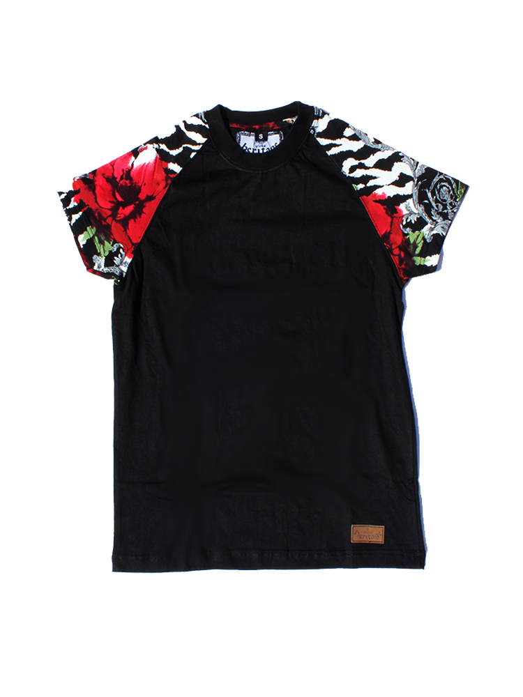 Global Heritage | Alfaki Red - T-Shirt (Black) - Black/White/Orange