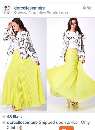 skirt maxi skirt pleated skirt