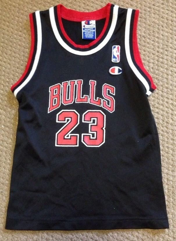Michael Jordan Chicago Bulls Size Youth Small Vintage Champion Black 23 Jersey | eBay