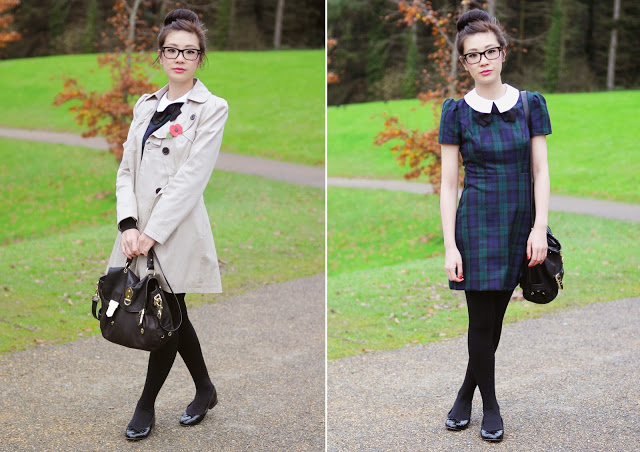How to Style: Tartan Dress from Primark | Temporary:Secretary UK Fashion Blog | Style Blogger: How to Style: Tartan Dress from Primark