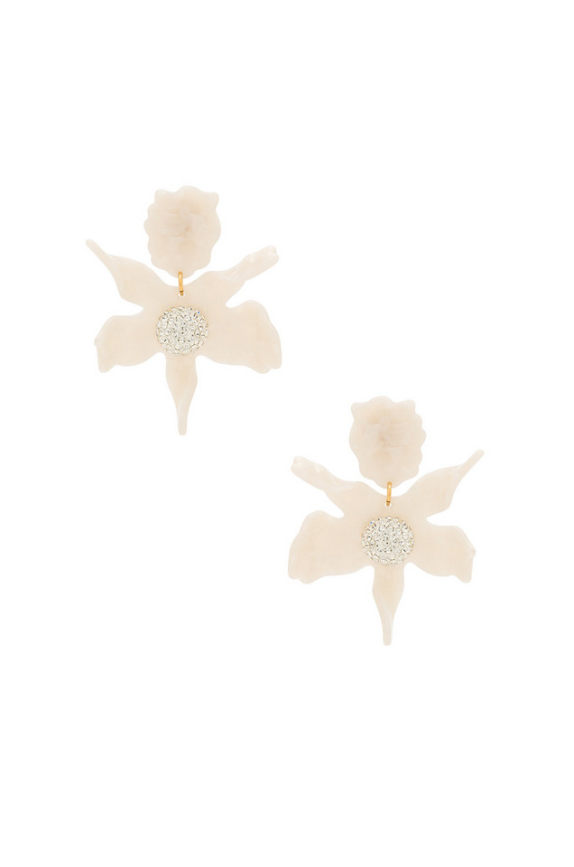 Lele Sadoughi Crystal Lily Earring in white