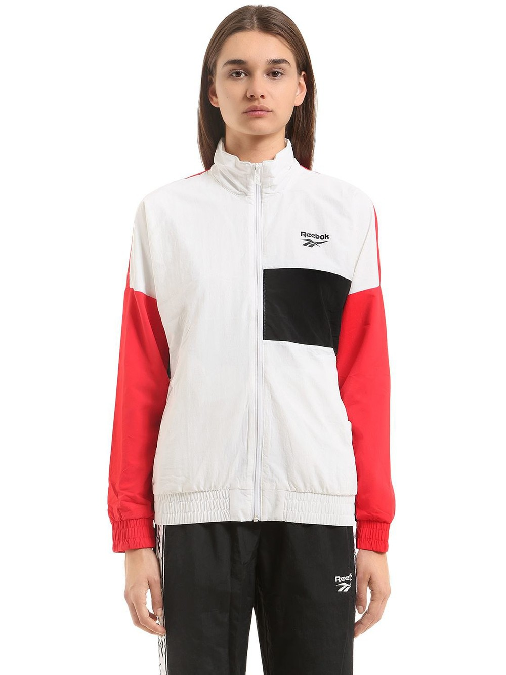 REEBOK CLASSICS Vector Color Blocked Track Jacket in red / white