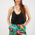 Black Shorts - Tropical Bliss High Waist Printed | UsTrendy
