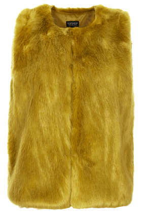Boxy Fur Gilet - Jackets & Coats  - Clothing  - Topshop