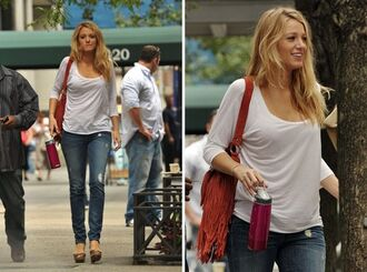 serena blake lively gossip girl red bag bag