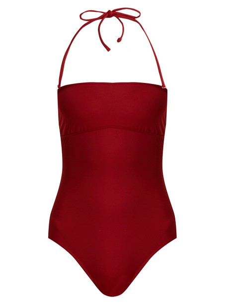 MAX MARA BEACHWEAR burgundy swimwear