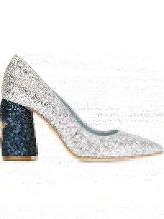 glitter pumps stars grey shoes