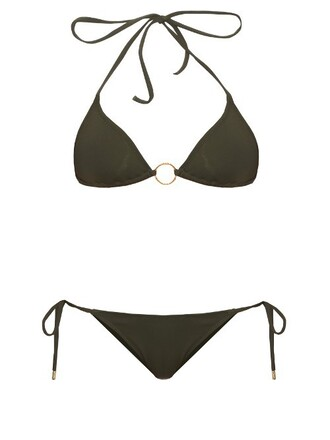 bikini triangle bikini triangle miami khaki swimwear