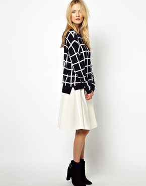 Whistles | Whistles Lucia Knit Sweater in Check Jacquard at ASOS