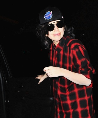 blouse black red black and red chemise shirt ladygaga dope queen swag
