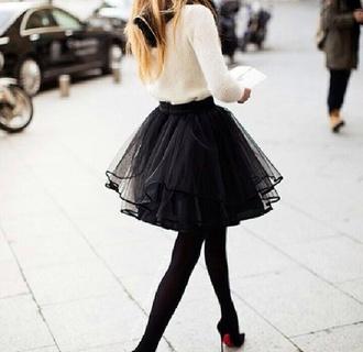 dress black and white pretty sweet tulle skirt