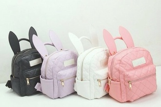 bag any color but exact bag pleaseee easter bunny bagpack girly bagpack bunny bag backpack bunny backpack pastel bag bunny ears backpack bunny ears