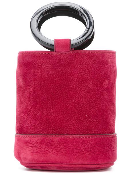 Simon Miller mini women bag bucket bag leather red